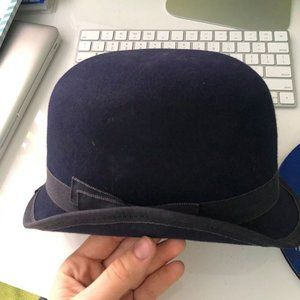 Navy Bowler Equestrian Show Hat